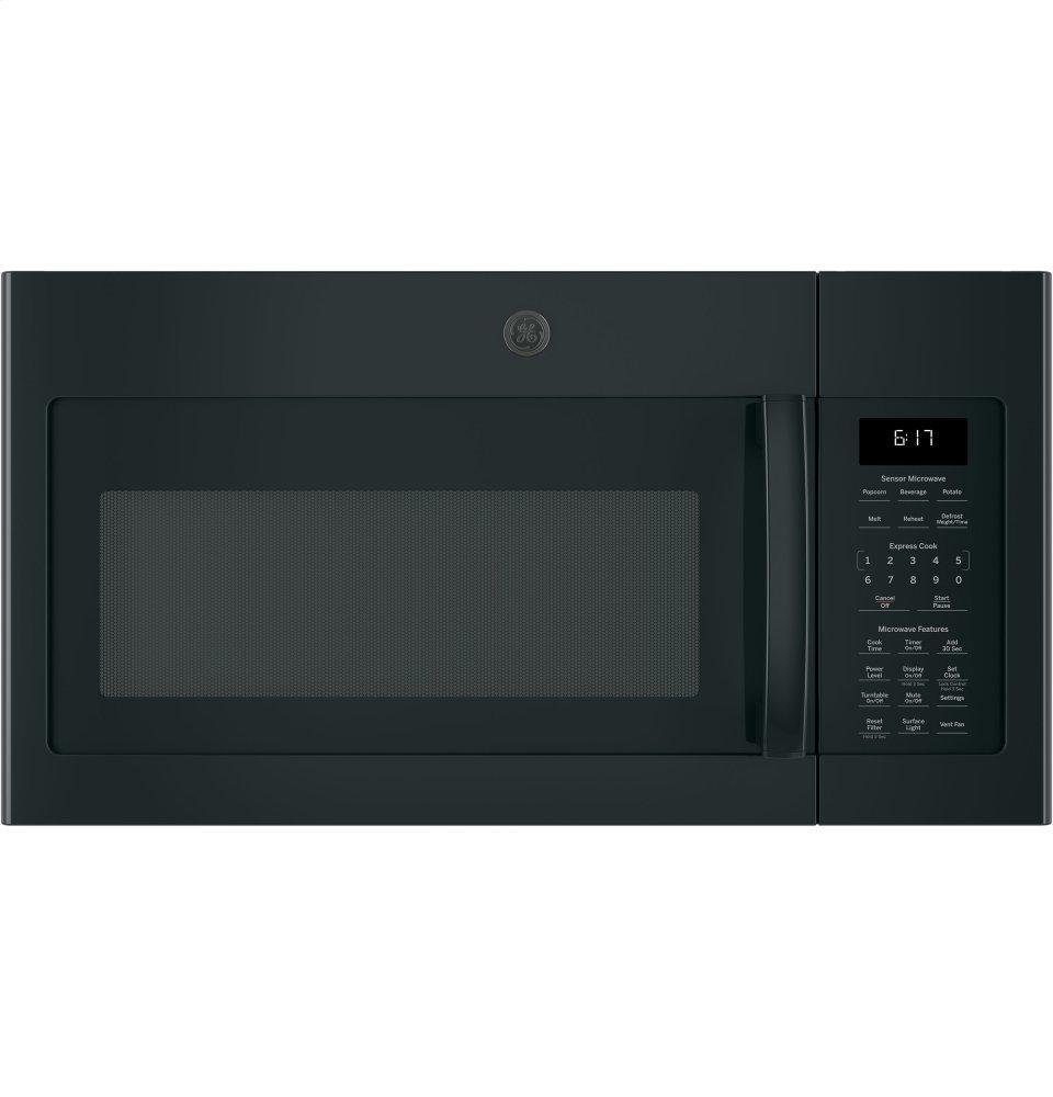 GE(R) 1.7 Cu. Ft. Over-the-Range Sensor Microwave Oven  BLACK
