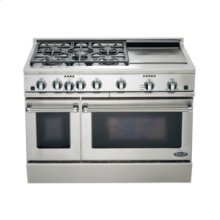 "48"" Dual Fuel, 5 Burner, Griddle"