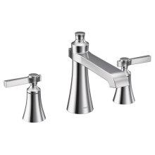 Flara chrome two-handle roman tub faucet