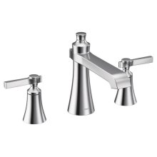 Flara chrome two-handle roman tub faucet