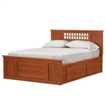 4-Drawer H20 Captains Bed - Queen