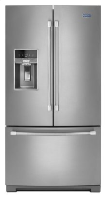 36-inch Wide French Door Refrigerator with Fingerprint Resistant Stainless Steel Exterior - 27 cu. ft.