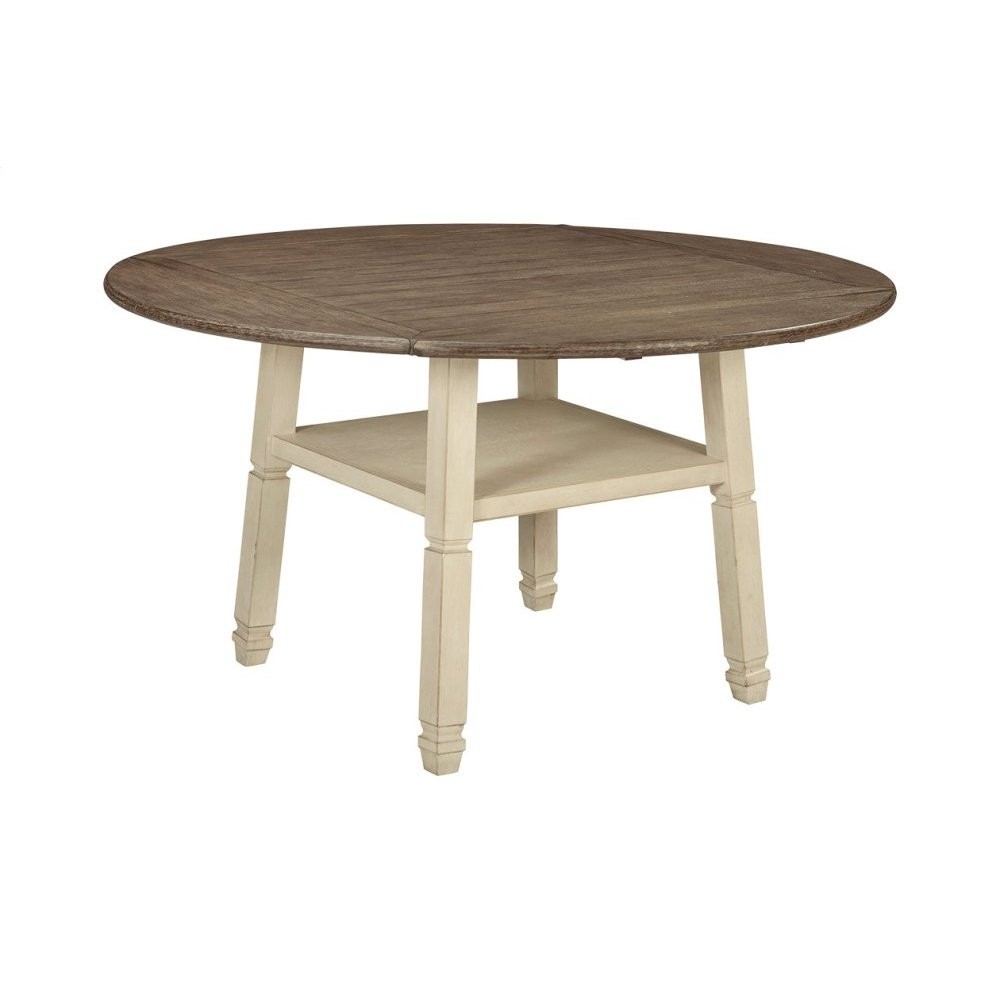 Round Drop Leaf Counter Table