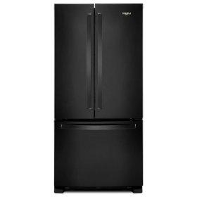 Whirlpool® 33-inch Wide French Door Refrigerator - 22 cu. ft. - Black