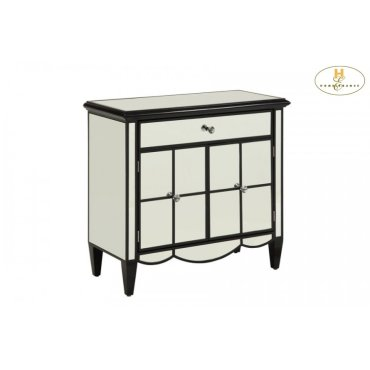 Mirrored Cabinet, Black
