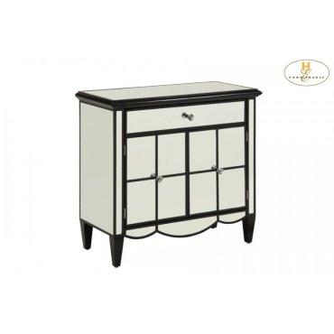 Mirrored Cabinet, Black
