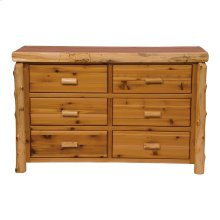 Six Drawer Dresser Natural Cedar, Premium