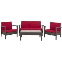 Piscataway 4 PC Set - Brown / Red