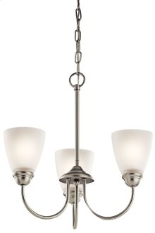 Jolie 3 Light Mini Chandelier Brushed Nickel