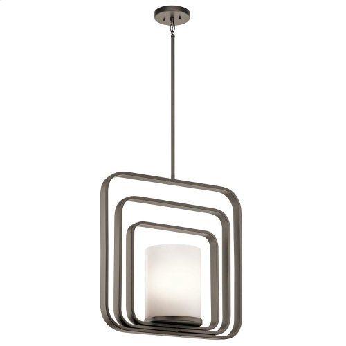 City Loft Collection City Loft 1 Light Rectangular Pendant in PN