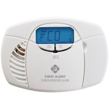 Battery-Powered Carbon Monoxide Alarm with Backlit Digital Display