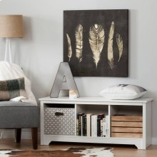 Cubby Storage Bench - Pure White