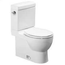 2-PC-Toilet - White Alpin (complete set: bowl, tank, and lid) *2 X Available*