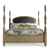 Corinne Full/Queen Upholstered Poster Headboard Sun-drenched Acacia finish