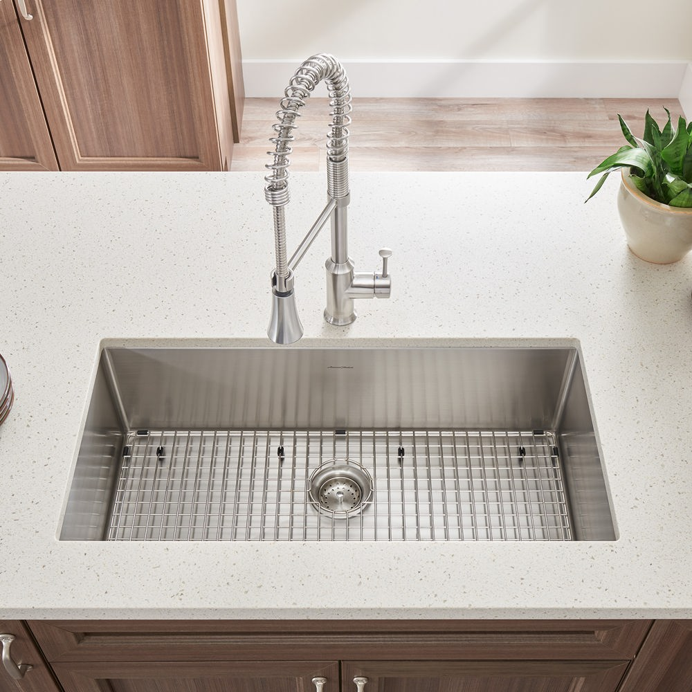 pekoe 35x18 inch stainless steel kitchen sink american standard   stainless steel 18sb10351800075 in stainless steel by american standard in      rh   activeplumbing com