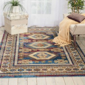 Cordoba Crd03 Blue Rectangle Rug 3'11'' X 5'11''