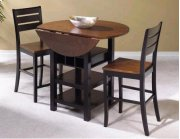 "Sunset Trading 3 Piece Quincy Drop Leaf Pub Set with 24"" Stools - Sunset Trading Product Image"