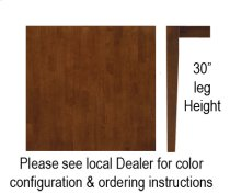 """30"""" x 30"""" Square Table w/ 30"""" Shaker Legs Pure White Product Image"""