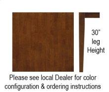 """30"""" x 30"""" Square Table w/ 30"""" Shaker Legs Espresso & Almond"""