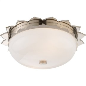 Visual Comfort AH4029PN-WG Alexa Hampton Rachel 2 Light 14 inch Polished Nickel Flush Mount Ceiling Light
