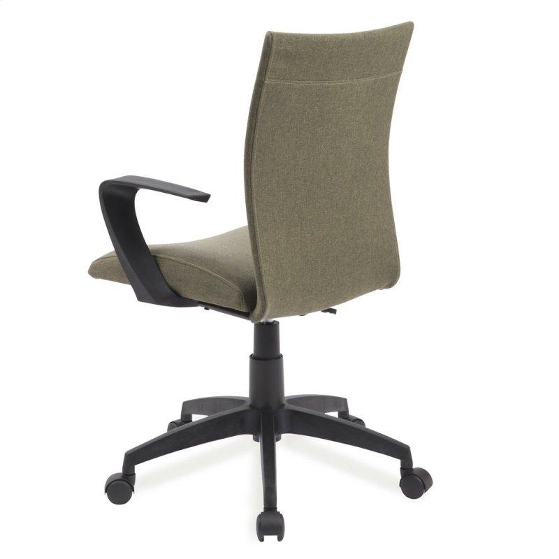 Green Linen Apostrophe Office Chair 10115gn