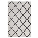 Marja Moroccan Trellis 5x8 Area Rug in Ivory and Charcoal Product Image