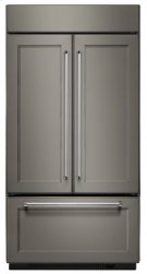 """24.2 Cu. Ft. 42"""" Width Built-In Panel Ready French Door Refrigerator with Platinum Interior Design Product Image"""