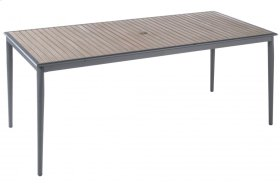 """Oden Alum. / Polywood 78"""" Rect. Dining Table w/ umb. hole"""