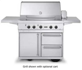 """Stainless Steel 41"""" Ultra-Premium E-Series Grill with TrueSear - VGIQ (41"""" wide E-Series with two standard 25,000 BTU stainless steel burners and one 30,000 BTU TruSear infrared burner (Natural Gas)"""