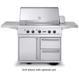"""Stainless Steel 41"""" Ultra-Premium E-Series Grill with TrueSear - VGIQ (41"""" wide E-Series with two standard 25,000 BTU stainless steel burners and one 30,000 BTU TruSear infrared burner (LP/Propane))"""