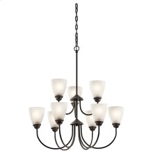 Jolie 9 Light Chandelier with LED Bulbs Olde Bronze®