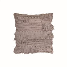 20X20 Hand Woven Bryn Pillow Greige