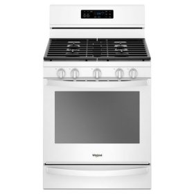 Whirlpool® 5.8 Cu. Ft. Freestanding Gas Range with Frozen Bake Technology - White