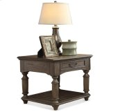 Belmeade Rectangular Side Table Old World Oak finish