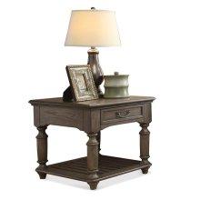 Belmeade Rectangular Side Table Old World Oak finish