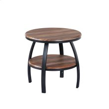 23.5'' Round End Table Brown