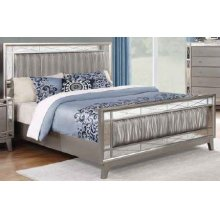Leighton Contemporary Metallic California King Bed