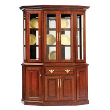 """61"""" Queen Victoria Canted Hutch & Buffet"""