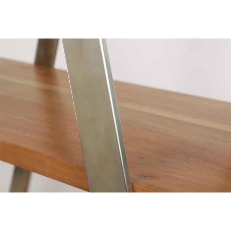 Etagere Frame Brushed Steel Finish