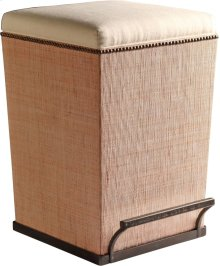 Ecru Fabric Purveyor Counter Stool in Sand Finish