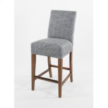 """Straight top barstool with small nails. 24"""" barstools have a seat height of 26"""" when measured"""
