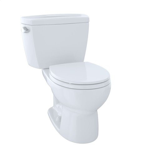 Drake® Two-Piece Toilet.1.6 GPF, Round Bowl - Cotton