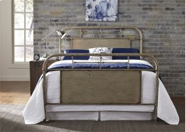 King Metal Bed - Vintage White