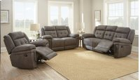 """Anastasia Glider Recliner Chair Gray, 42.5""""x39.5""""x43"""" Product Image"""