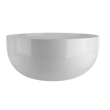 Counter top washbasin in Ceramilux® (bright white) without overflow