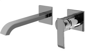 Qubic Wall-Mounted Lavatory Faucet w/Single Handle