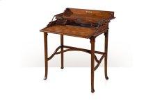 The Kaye Campaign Desk, #plain# - Walnut Finish