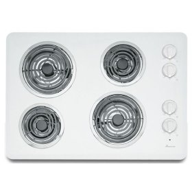 30-inch Electric Cooktop with 4 Elements - white