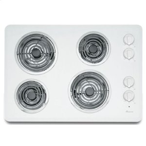 30-inch Electric Cooktop with 4 Elements - white - WHITE