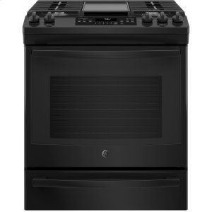 "GE®30"" Slide-In Front-Control Convection Gas Range"